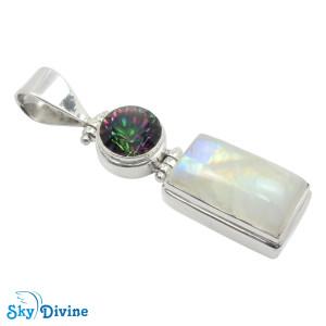 925 Sterling Silver Mystic Stone Pendant SDAPN01 SkyDivine Jewelry