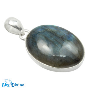 Sterling Silver Labradorite Pendant SDPN2104 SkyDivine Jewelry