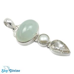 Sterling Silver moon stone Pendant SDAPN13e SkyDivine Jewellery