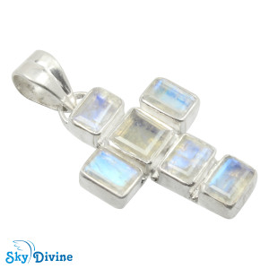 925 Sterling Silver Chalcedony Pendant SDAPN12a SkyDivine Jewellery