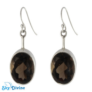 Sterling Silver Smoky Topaz Earring SDAER02 SkyDivine Jewelry