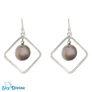 Sterling Silver Rose Quartz Earring SDAER12b SkyDivine Jewelry