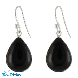 925 Sterling Silver Black onyx Earring SDER2108 SkyDivine Jewelry