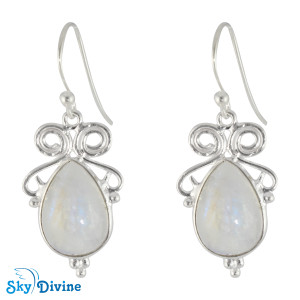 925 Sterling Silver Rainbow moon Stone Earring SDER2116 SkyDivine Jewellery
