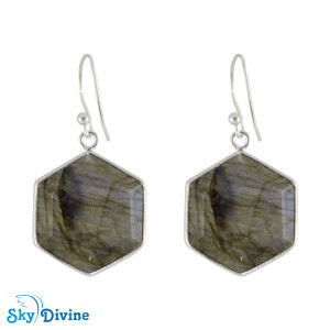 925 Sterling Silver Labradorite Earring SDER2155 SkyDivine Jewellery
