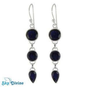 Sterling Silver iolite Earring SDER2173 SkyDivine Jewellery