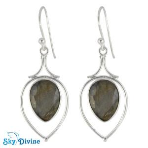 925 Sterling Silver Labradorite Earring SDER2183 SkyDivine Jewellery