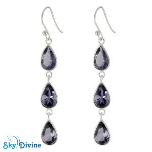 Sterling Silver iolite Earring SDER2190 SkyDivine Jewellery