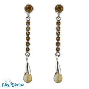 Sterling Silver Citrine Earring SDAER18a SkyDivine Jewellery