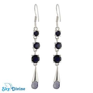 Sterling Silver iolite Earring SDAER23b SkyDivine Jewellery