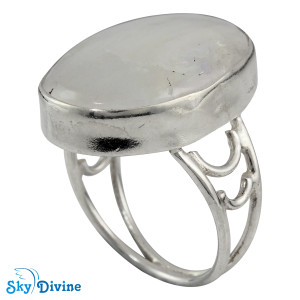 925 Sterling Silver Rainbow moon Stone Ring SDR2105 SkyDivine Jewellery RingSize 8.5 US