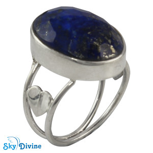 925 Sterling Silver lapis lazuli Ring SDR2109 SkyDivine Jewellery RingSize 8 US