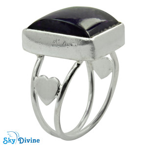 Sterling Silver amethyst Ring SDR2112 SkyDivine Jewellery RingSize 7.5 US