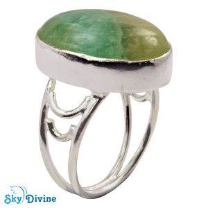 925 Sterling Silver flourite Ring SDR2117 SkyDivine Jewellery RingSize 7 US