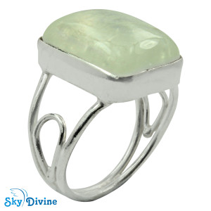 Sterling Silver Rainbow moon Stone Ring SDR2118 SkyDivine Jewellery RingSize 7.5 US