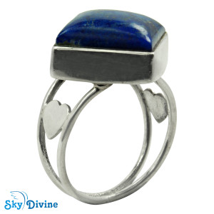Sterling Silver lapis lazuli Ring SDR2120 SkyDivine Jewellery RingSize 8.5 US