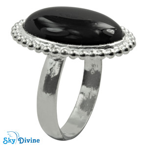925 Sterling Silver Black Onyx Ring SDR2121 SkyDivine Jewellery RingSize 7.5 US