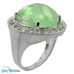 925 Sterling Silver flourite Ring SDR2139 SkyDivine Jewelry RingSize 7 US
