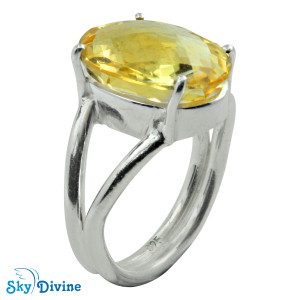 925 Sterling Silver Citrine Ring SDR2147 SkyDivine Jewellery RingSize 7.5 US