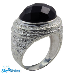 925 Sterling Silver Black Onyx Ring SDR2151 SkyDivine Jewelry RingSize 8 US