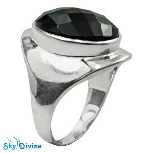 Sterling Silver Black Onyx Ring SDR2152 SkyDivine Jewellery RingSize 9 US