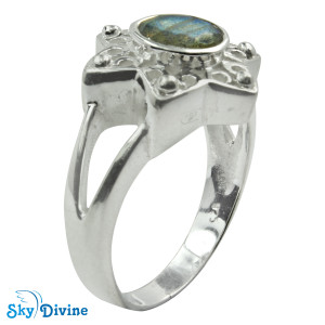 Sterling Silver Labradorite Ring SDR2165 SkyDivine Jewellery RingSize 9 US