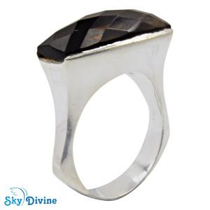 925 Sterling Silver smoky topaz Ring SDR2166 SkyDivine Jewellery RingSize 7.5 US