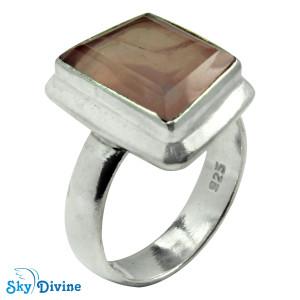 925 Sterling Silver Rose Quartz Ring SDR2168 SkyDivine Jewellery RingSize 8 US