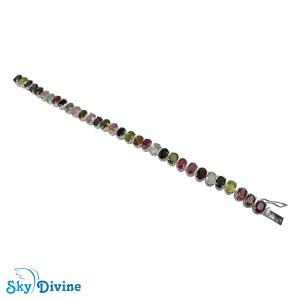 925 Sterling Silver tourmaline Bracelet SDBR2100 SkyDivine Jewelry