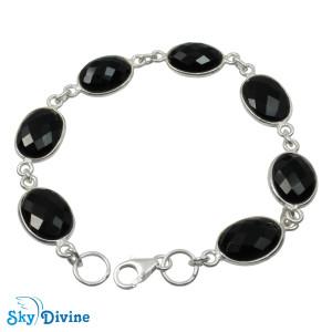 Sterling Silver Black onyx Bracelet SDBR2105 SkyDivine Jewellery