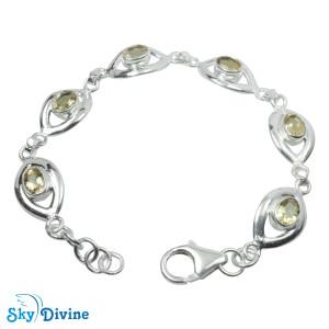 925 Sterling Silver Citrine Bracelet SDBR2111 SkyDivine Jewellery