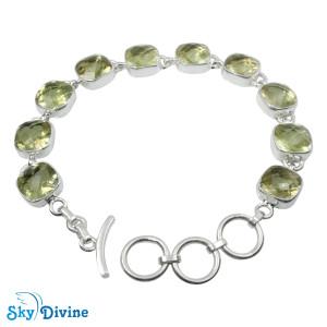 925 Sterling Silver lemon topaz Bracelet SDBR2118 SkyDivine Jewellery