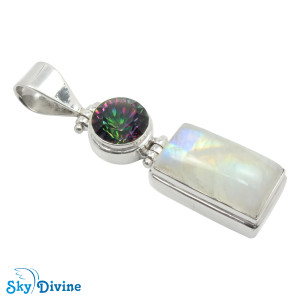 925 Sterling Silver Mystic Stone Pendant SDAPN01 SkyDivine Jewelry