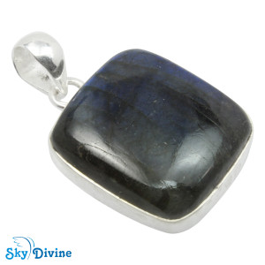 Sterling Silver Labradorite Pendant SDPN2108 SkyDivine Jewellery