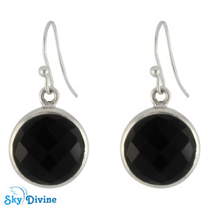 925 Sterling Silver Black onyx Earring SDER2110 SkyDivine Jewellery