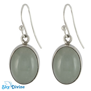 Sterling Silver moon stone Earring SDER2111 SkyDivine Jewelry