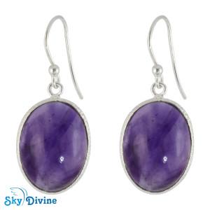 Sterling Silver amethyst Earring SDER2113 SkyDivine Jewellery