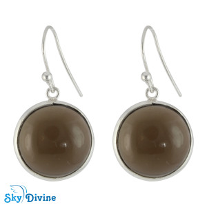 925 Sterling Silver smoky topaz Earring SDER2114 SkyDivine Jewelry