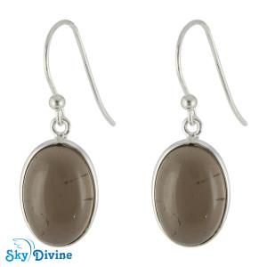 925 Sterling Silver smoky topaz Earring SDER2118 SkyDivine Jewellery