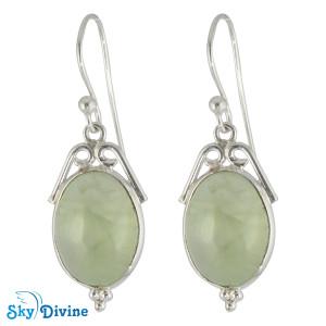 Sterling Silver prehnite Earring SDER2120 SkyDivine Jewellery