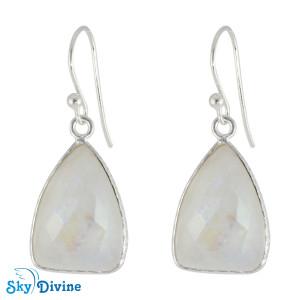 Sterling Silver Rainbow moon Stone Earring SDER2150 SkyDivine Jewellery