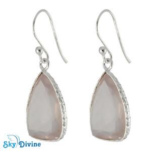 Sterling Silver Rose Quartz Earring SDER2152 SkyDivine Jewellery