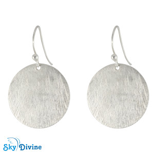 925 Sterling Genuine Silver Earring SDAER09f SkyDivine Jewellery