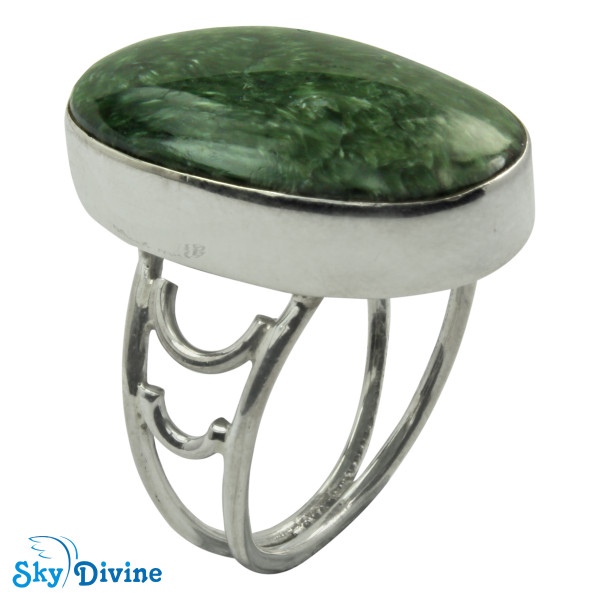 925 Sterling Silver Serpentine Ring SDR2101 SkyDivine Jewelry RingSize 8.5 US
