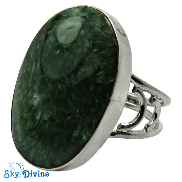 925 Sterling Silver Serpentine Ring SDR2101 SkyDivine Jewelry RingSize 8.5 US Image2
