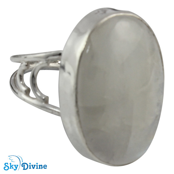 925 Sterling Silver Rainbow moon Stone Ring SDR2105 SkyDivine Jewellery RingSize 8.5 US Image2