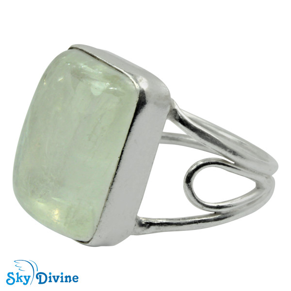 Sterling Silver Rainbow moon Stone Ring SDR2118 SkyDivine Jewellery RingSize 7.5 US Image2