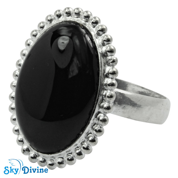 925 Sterling Silver Black Onyx Ring SDR2121 SkyDivine Jewellery RingSize 7.5 US Image2