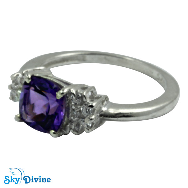 925 Sterling Silver amethyst Ring SDR2141 SkyDivine Jewellery RingSize 8 US Image2