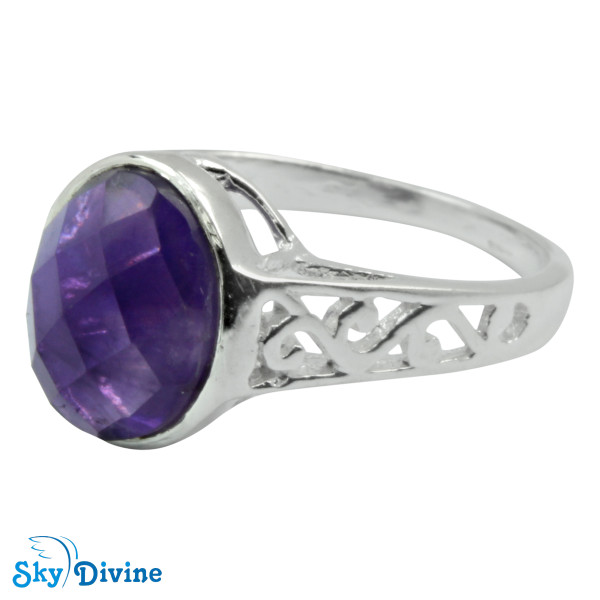 925 Sterling Silver amethyst Ring SDR2145 SkyDivine Jewelry RingSize 8 US Image2